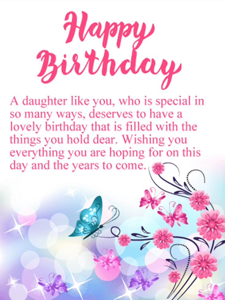 26 Happy Birthday Wishes for Daughters Best Messages Quotes 10