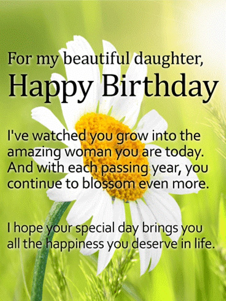 26 Happy Birthday Wishes for Daughters Best Messages Quotes 14