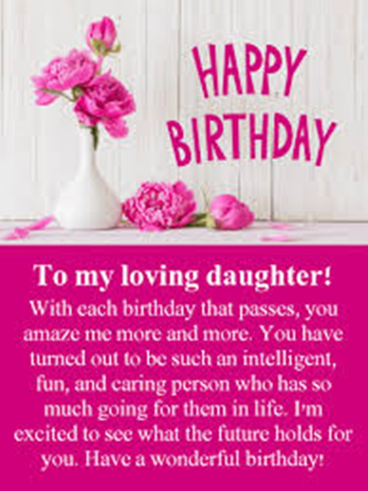 Marvelous 26 Happy Birthday Wishes For Daughters Best Messages Quotes 4 Personalised Birthday Cards Paralily Jamesorg