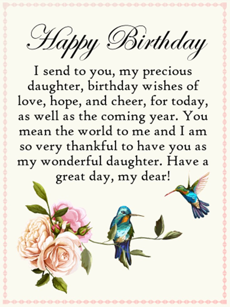 Swell 26 Happy Birthday Wishes For Daughters Best Messages Quotes 9 Personalised Birthday Cards Paralily Jamesorg