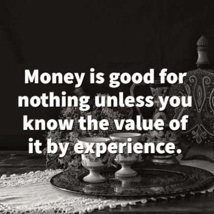 time is money quotes
