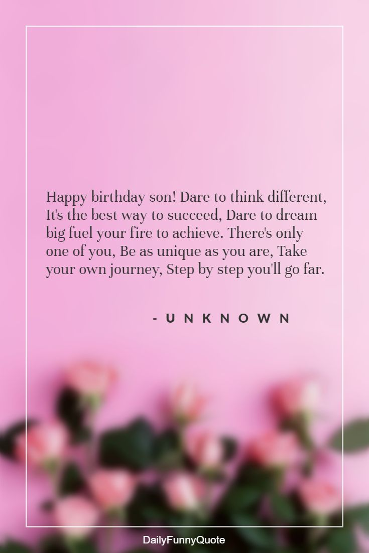 20 Birthday Quotes for Your Son – Happy Birthday Son Quotes ...