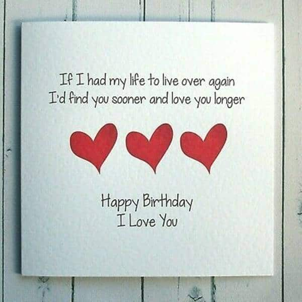 love greeting card messages happy birthday life