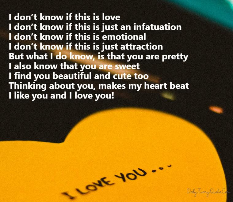 Poem with my you in heart Words From