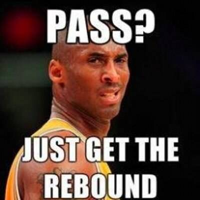 """45 Funny NBA Memes Funny Pun for Laugh Funny NBA memes clean """"Pass? Just get the rebound"""""""