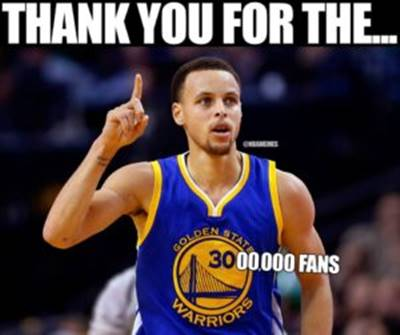 """45 Funny NBA Memes Very Funny Pictures """"Thank you for the… 00000 fans."""""""