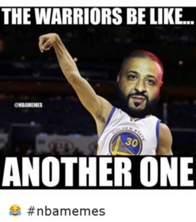 """45 Funny NBA Memes Random Funny Pictures """"The warriors be like… Another one."""""""