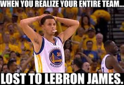 """FUnny NBA Memes Images """"When you realize your entire team… Lost to Lebron James."""""""