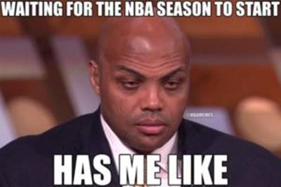 """45 Funny NBA Memes Funny Pun for Laugh nba finals funny pictures """"Waiting for the NBA season to start has me like."""""""