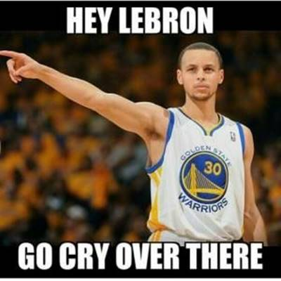 """45 Funny NBA Memes Funny Pun for Laugh Funny NBA Memes Kobe """"Hey Lebron go cry over there."""""""