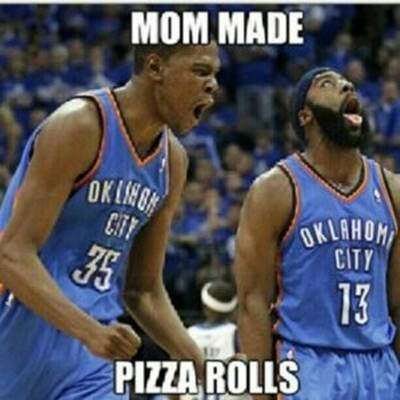 """45 Funny NBA Memes Funny Pun for Laugh Funny NBA Memes Facebook """"Mom made pizza rolls."""""""