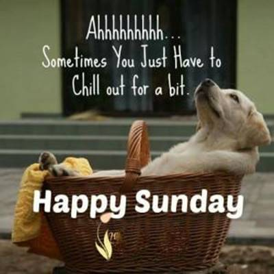 Beautiful Sunday Quotes - Ahhhh... Sometimes you just have to chill out for a bit.