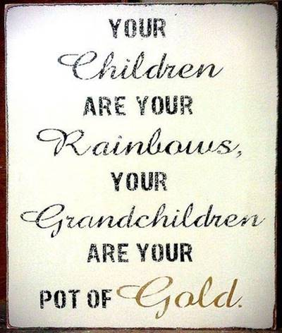 "45 grandparents quotes ""Grandbabies sunshine for the soul"""