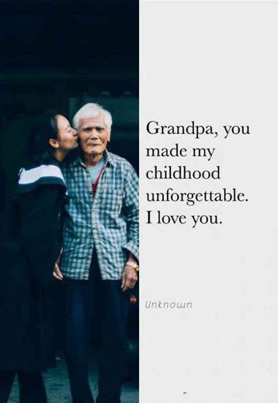 """45 grandparents quotes """"Grandpa and granddaughter a bond that can't be broken"""""""