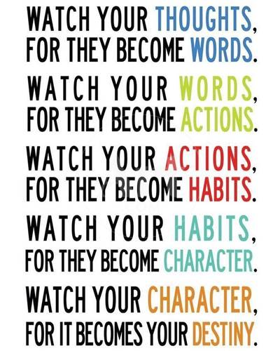45 Single Memes To Chain Letter Meme For Being Single - Watch your thoughts, for they become words. Watch your words, for they become actions. Watch your actions, for they become habits. Watch your habits, for they become character. Watch your character, for it becomes your destiny.