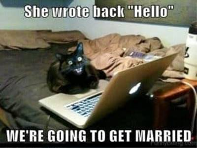 45 Single Memes To Make Your Lonely Heart Smile Funny Memes - She wrote bacHello we're going to get married.