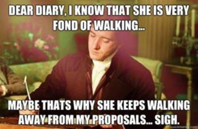 45 Single Memes To Make Your Lonely Heart Smile We're Going To Get Married Joke Meme - Dear diary, I know that she is very fond of walking… Maybe that's why she keeps walking away from my proposals… Sigh.