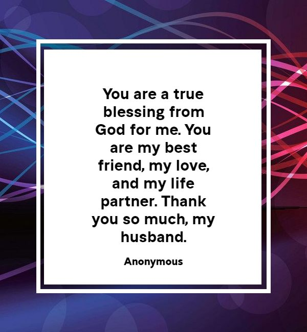Thank You Messages For Birthday Wishes To Husband   Thank You!