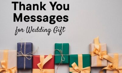Best Thank You Notes for Wedding Gifts Wishes Messages and Quotes